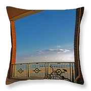 Bicycles Resting Throw Pillow