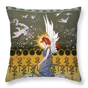 Bicycling, 1896 Throw Pillow by Granger