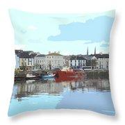 Bideford Quay North Devon Throw Pillow