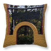 Bienvenidos A Santa Lucia Throw Pillow