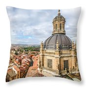 Bierdview Of Historic City Of Salamanca Throw Pillow