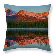 Bierstadt Alpenglow Throw Pillow
