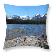 Bierstadt Lake In Rocky Mountain National Park Throw Pillow