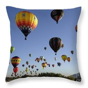 Big Balloons Throw Pillow