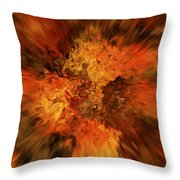 Big Band - Fiery Cloud Throw Pillow
