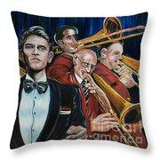 Big Band Leader Throw Pillow