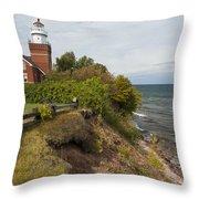 Big Bay Point Lighthouse 2 Throw Pillow