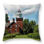 Big Bay Point Lighthouse Throw Pillow