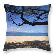Big Beach Throw Pillow