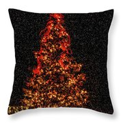 Big Bear Christmas Tree Throw Pillow