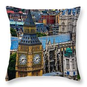 Big Ben And Westminster Abbey Throw Pillow