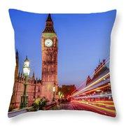 Big Ben By Night Throw Pillow