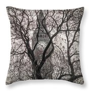 Big Ben From The Square Throw Pillow