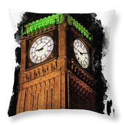 Big Ben In London Throw Pillow