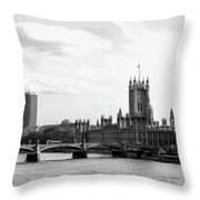 Big Ben, Parliament And Thames River Throw Pillow
