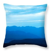 Big Bend Blue Haze Throw Pillow
