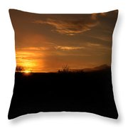 Big Bend Sunrise 2 Throw Pillow