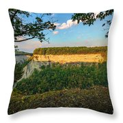 Big Bend Sunrise Letchworth Throw Pillow