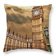Big Ben's House Throw Pillow by Meirion Matthias