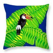 Big Billed Bird Throw Pillow