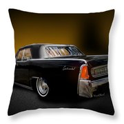 Big Black Lincoln Rag Top Throw Pillow