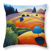 Big Blue Tree Throw Pillow