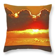 Big Bold Sunset Throw Pillow