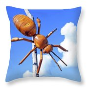 Big Bug Sculpture 1 Throw Pillow