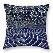 Big Building Abstract Throw Pillow