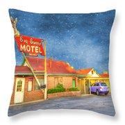 Big Bunny Motel Throw Pillow by Juli Scalzi