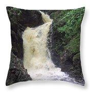 Big Burn Waterfall Throw Pillow