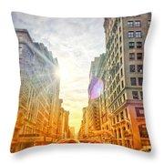 Big City, Bigger Life Throw Pillow