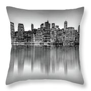 Big City Reflections Throw Pillow