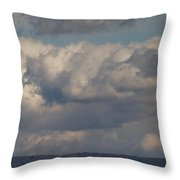 Big Clouds  Throw Pillow