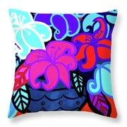 Big Colorful Lillies 2 Throw Pillow