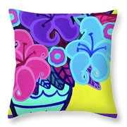 Big Colorful Lillies Throw Pillow