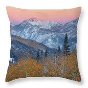 Big Cottonwood Canyon Wasatch Sunrise Throw Pillow