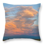Big Country Sunset Sky Throw Pillow