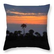 Big Cypress Sunset Throw Pillow
