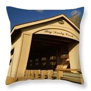Big Darby Creek Covered Bridge Throw Pillow