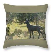 Big Deer Throw Pillow