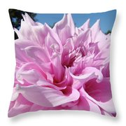Big Dinner Plate Dahlia Flower Garden Floral Baslee Troutman Throw Pillow