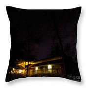 Big Dipper Over Hike Inn Throw Pillow