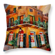 Big Easy Sunset Throw Pillow