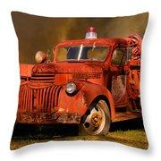 Big Fire - Old Fire Truck Throw Pillow