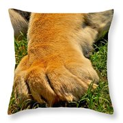 Big Foot Throw Pillow