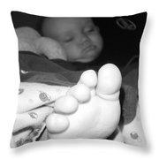 Big Foot Throw Pillow