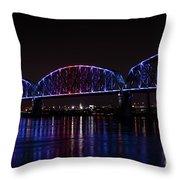 Big Four Bridge 2217 Throw Pillow