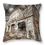 Big Garage Sale Throw Pillow