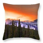 Big Horn Sunset Throw Pillow